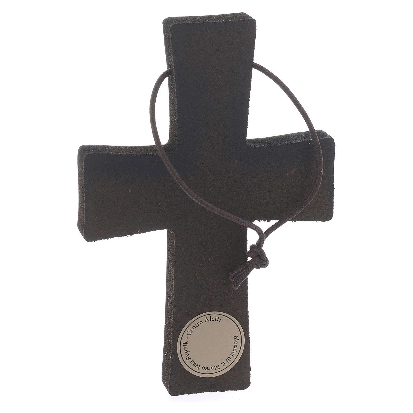 Cruz Colgante Estampa Pasión de Rupnik 10x5 cm 4