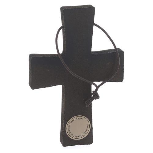 Cruz Colgante Estampa Pasión de Rupnik 10x5 cm 2