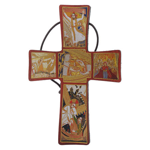 Cross with Passion of Christ by Father Rupnik 10x5 cm 1