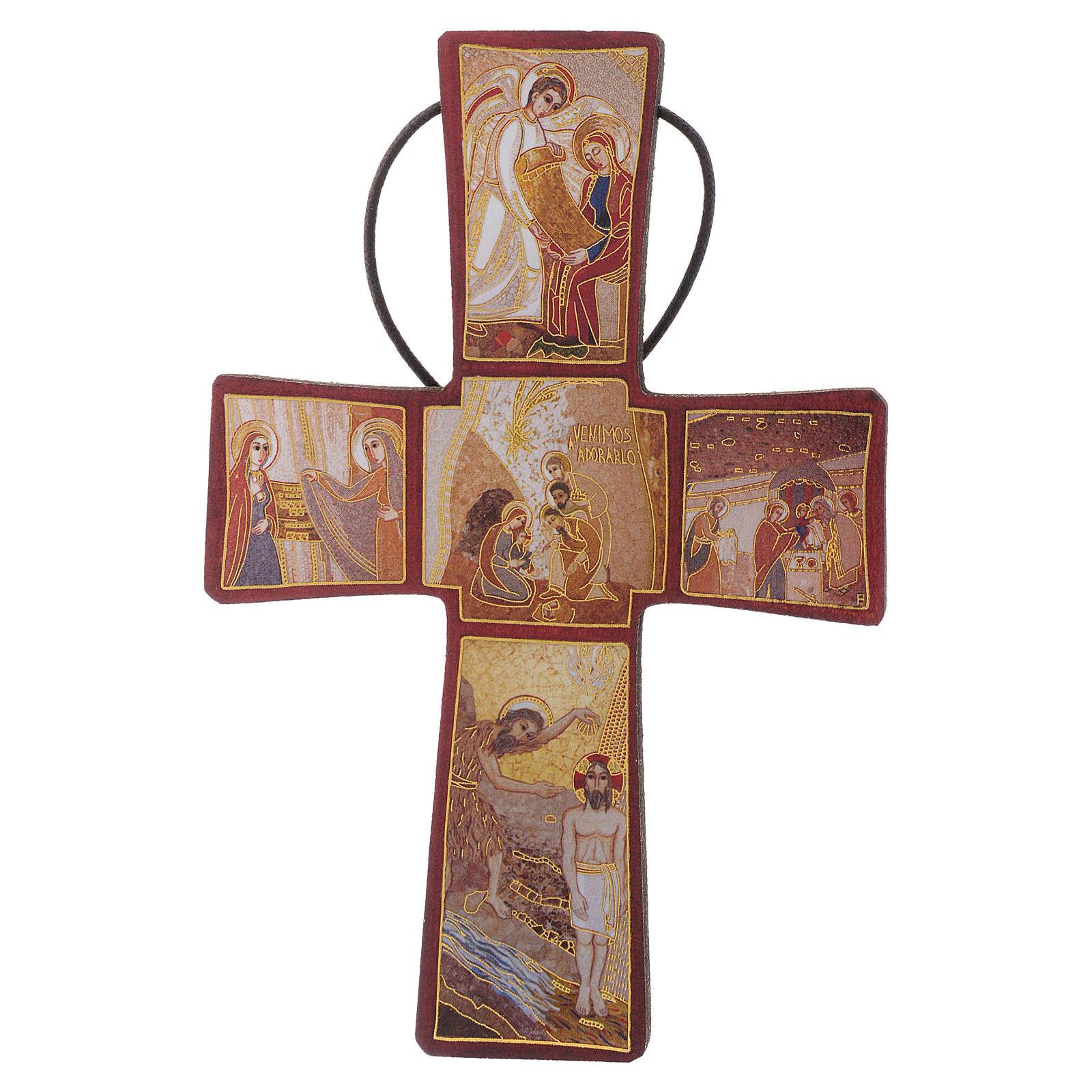Croce della Nascita di Gesù Padre Rupnik 10x15 4