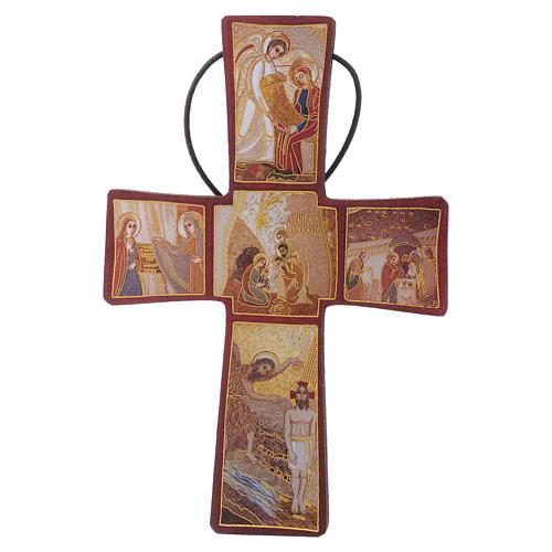Croce della Nascita di Gesù Padre Rupnik 10x15 1
