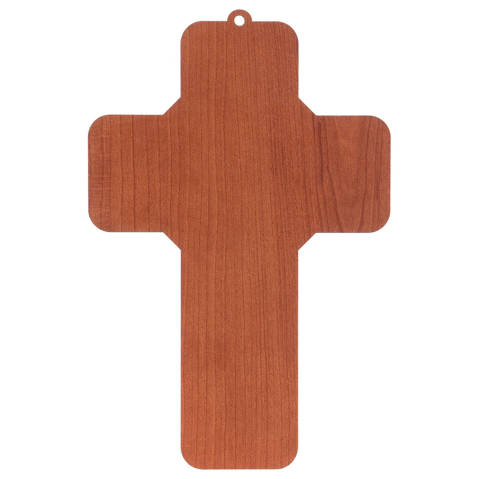Croce in mdf presepe 12x18 cm  4