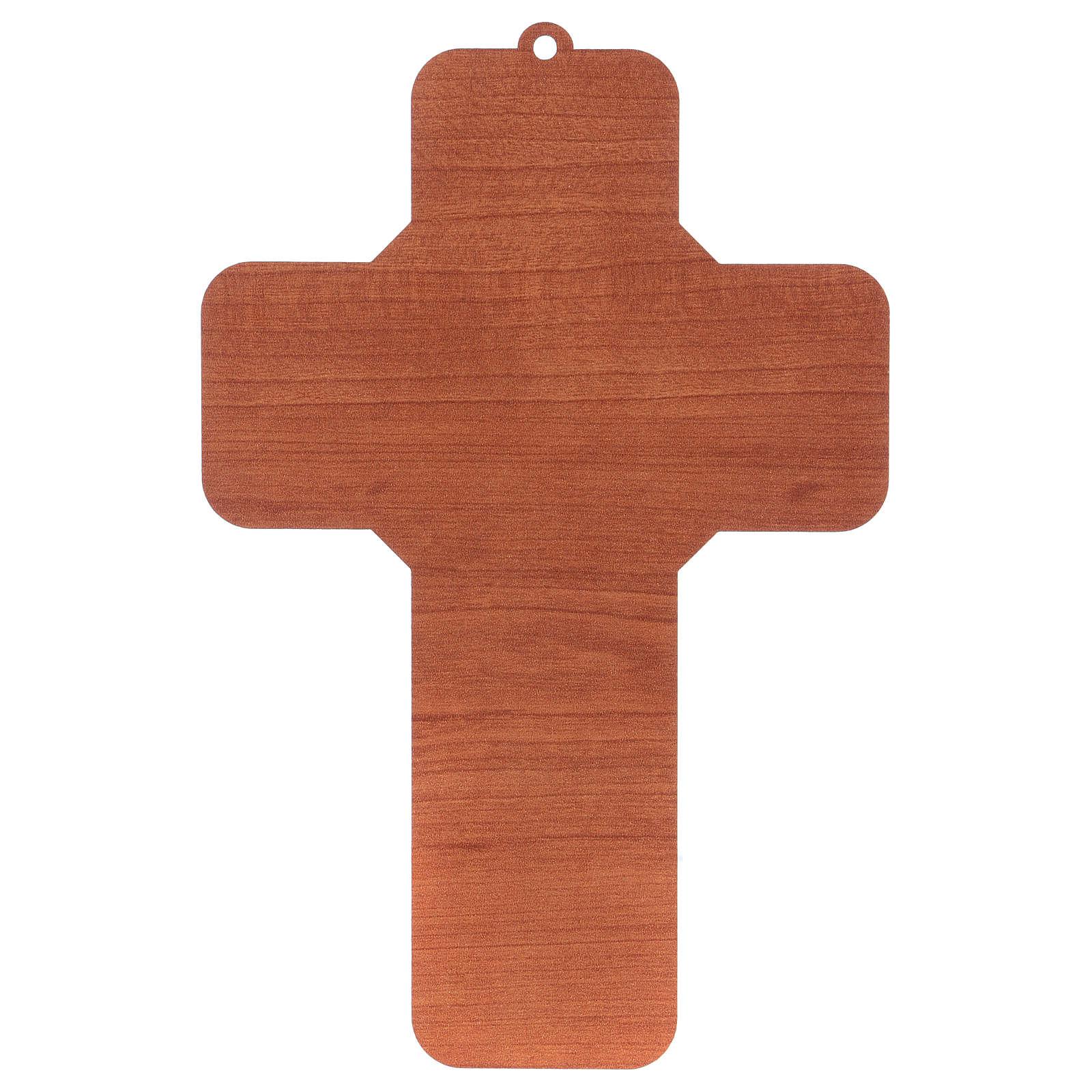 Croce in materiale mdf presepe 12x18 cm  4