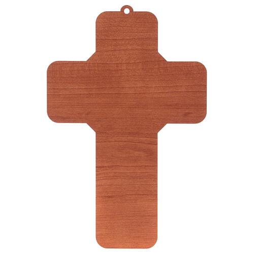 Croce in materiale mdf presepe 12x18 cm  2