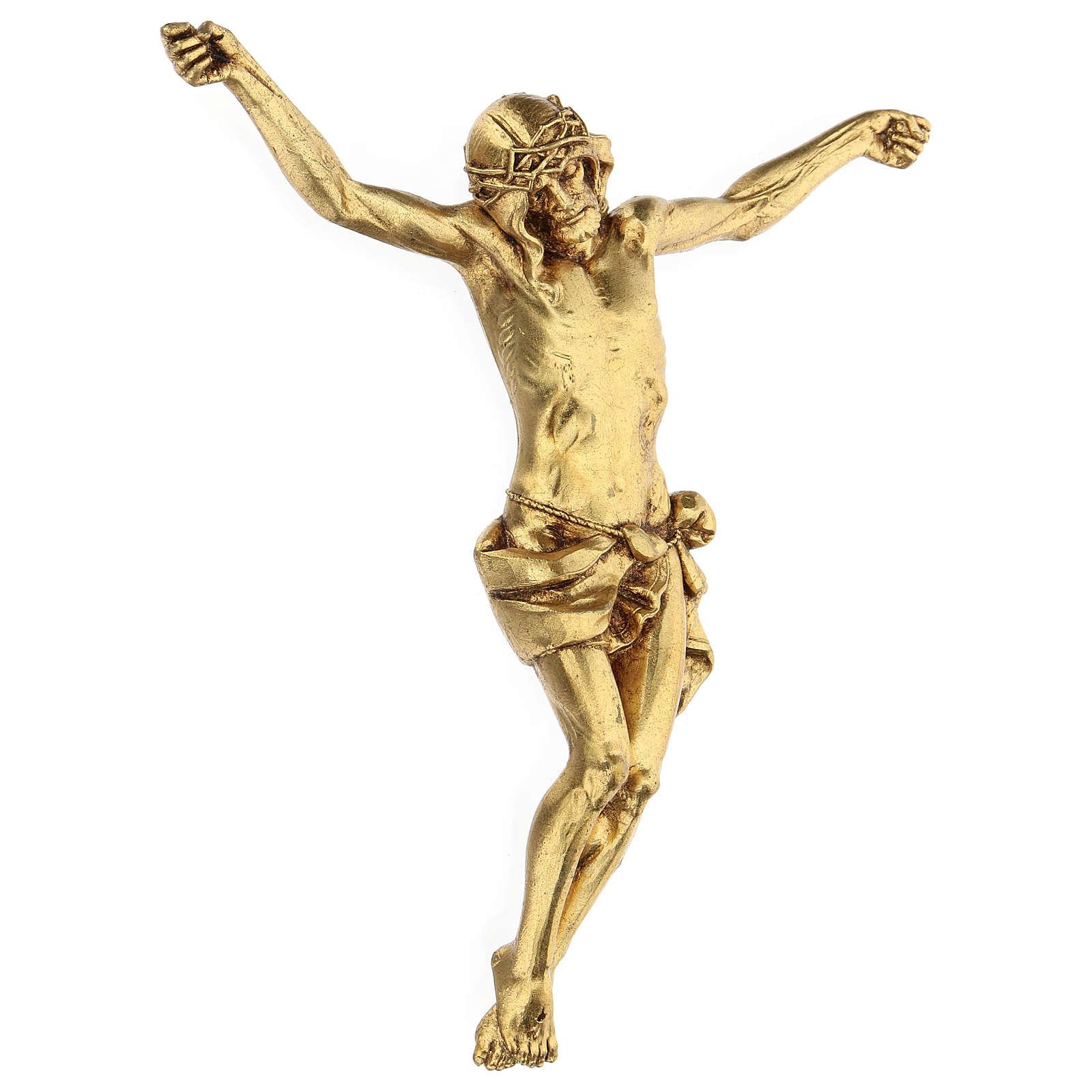 Crucifix avec corps doré Fontanini 26 cm 4