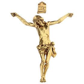 Crucifix avec corps doré Fontanini 26 cm s1