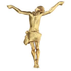Crucifix avec corps doré Fontanini 26 cm s4