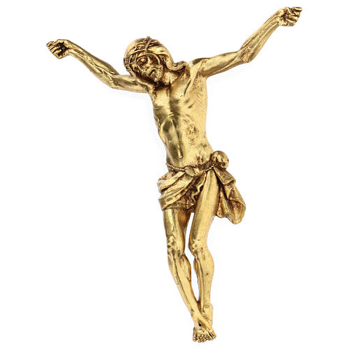 Crucifix avec corps doré Fontanini 26 cm 2