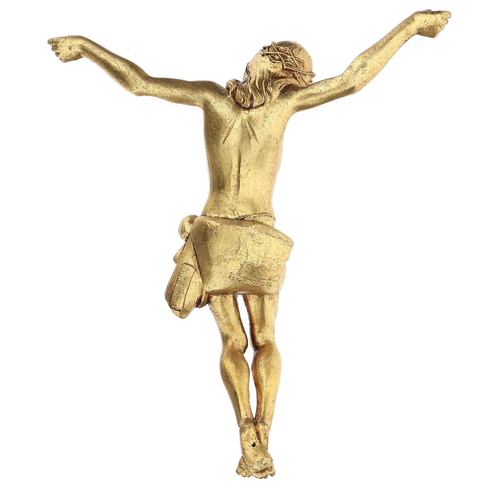 Krucyfiks z Ciałem złotym Fontanini 26 cm 4