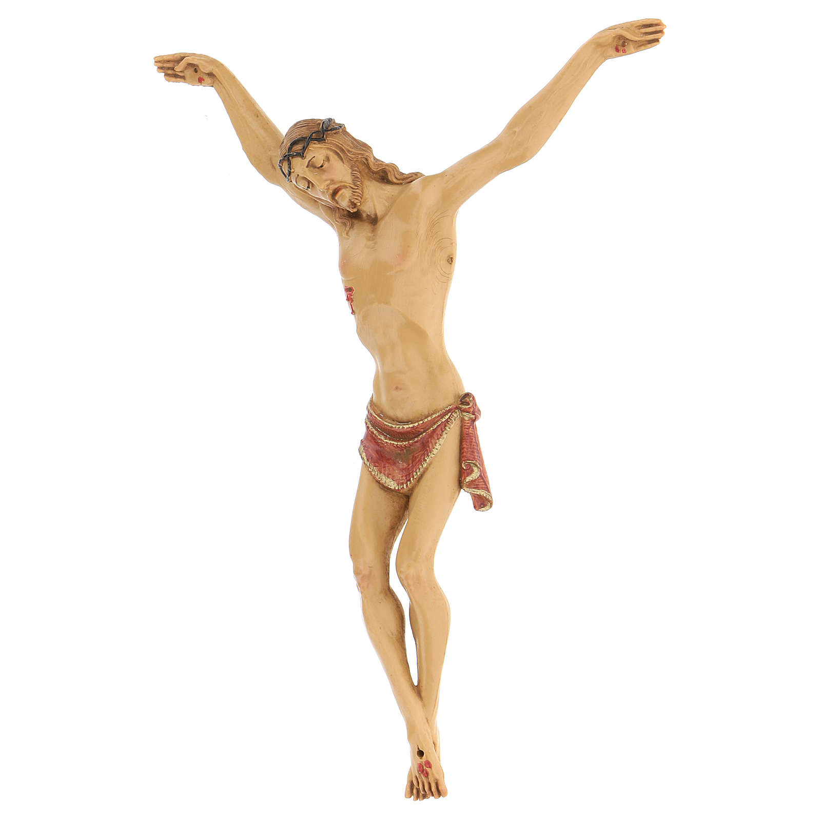 Crucifijo con cuerpo de resina Fontanini 21 cm 4
