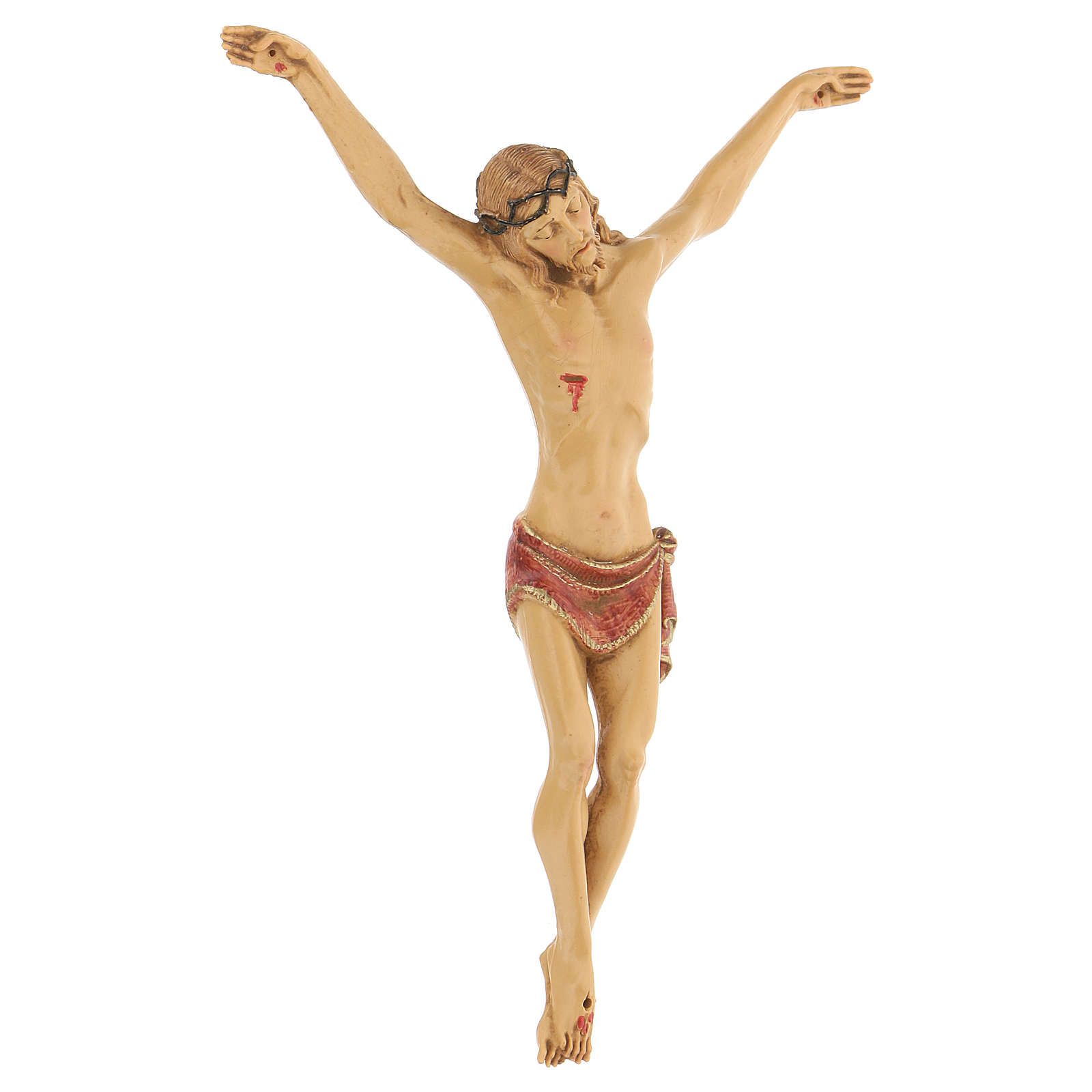 Crocifisso con corpo in resina Fontanini 21 cm 4
