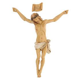 Cristo de cruz Fontanini 21 cm de resina s1