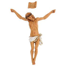 Cristo in croce Fontanini 21 cm in resina s1