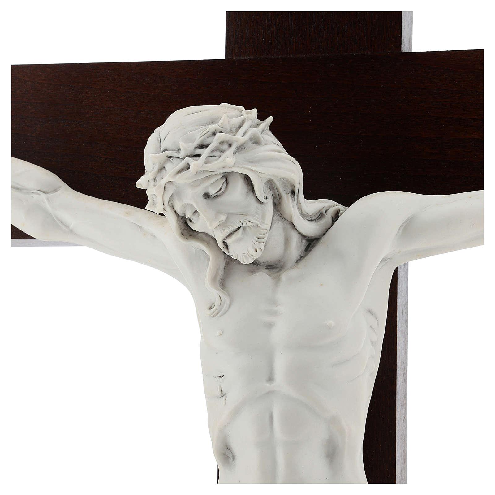 Crucifijo Carrara con Cuerpo de Cristo de resina Fontanini 100x56 cm 4