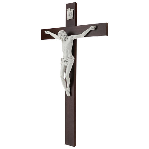 Crucifijo Carrara con Cuerpo de Cristo de resina Fontanini 100x56 cm 3