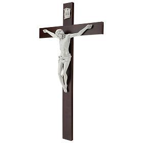 Crocifisso Carrara con Corpo di Cristo in resina Fontanini 100x56 cm s3