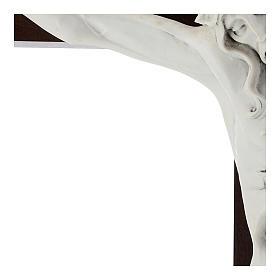 Crocifisso Carrara con Corpo di Cristo in resina Fontanini 100x56 cm s4