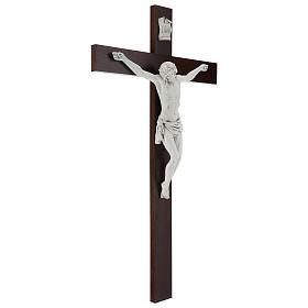 Crocifisso Carrara con Corpo di Cristo in resina Fontanini 100x56 cm s5
