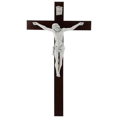 Crocifisso Carrara con Corpo di Cristo in resina Fontanini 100x56 cm 1