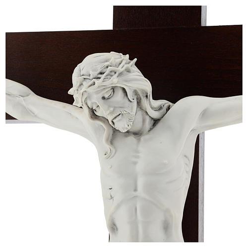 Crocifisso Carrara con Corpo di Cristo in resina Fontanini 100x56 cm 2