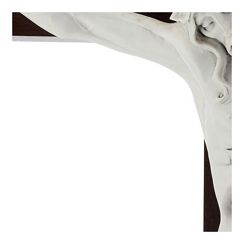 Crocifisso Carrara con Corpo di Cristo in resina Fontanini 100x56 cm 4