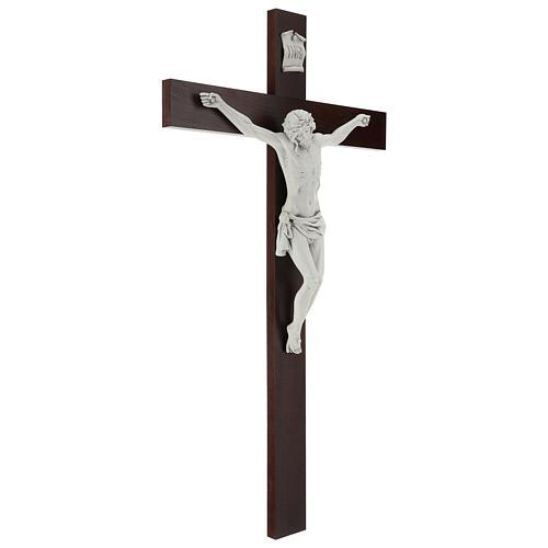 Crocifisso Carrara con Corpo di Cristo in resina Fontanini 100x56 cm 5