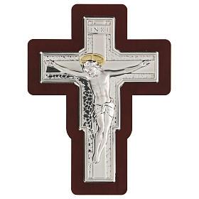 Crucifijo bajorrelieve bilaminado 16x12 cm s1
