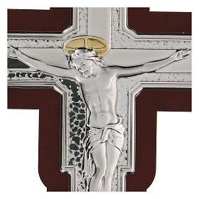 Crucifijo bajorrelieve bilaminado 16x12 cm s2
