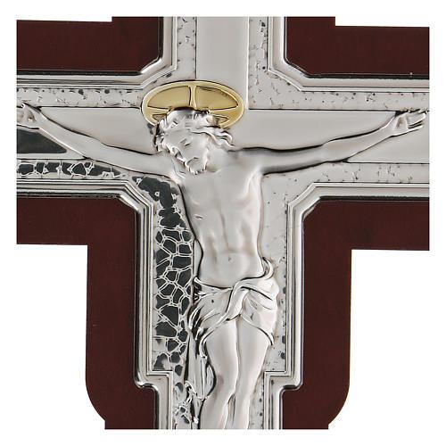 Crucifijo bajorrelieve bilaminado 16x12 cm 2