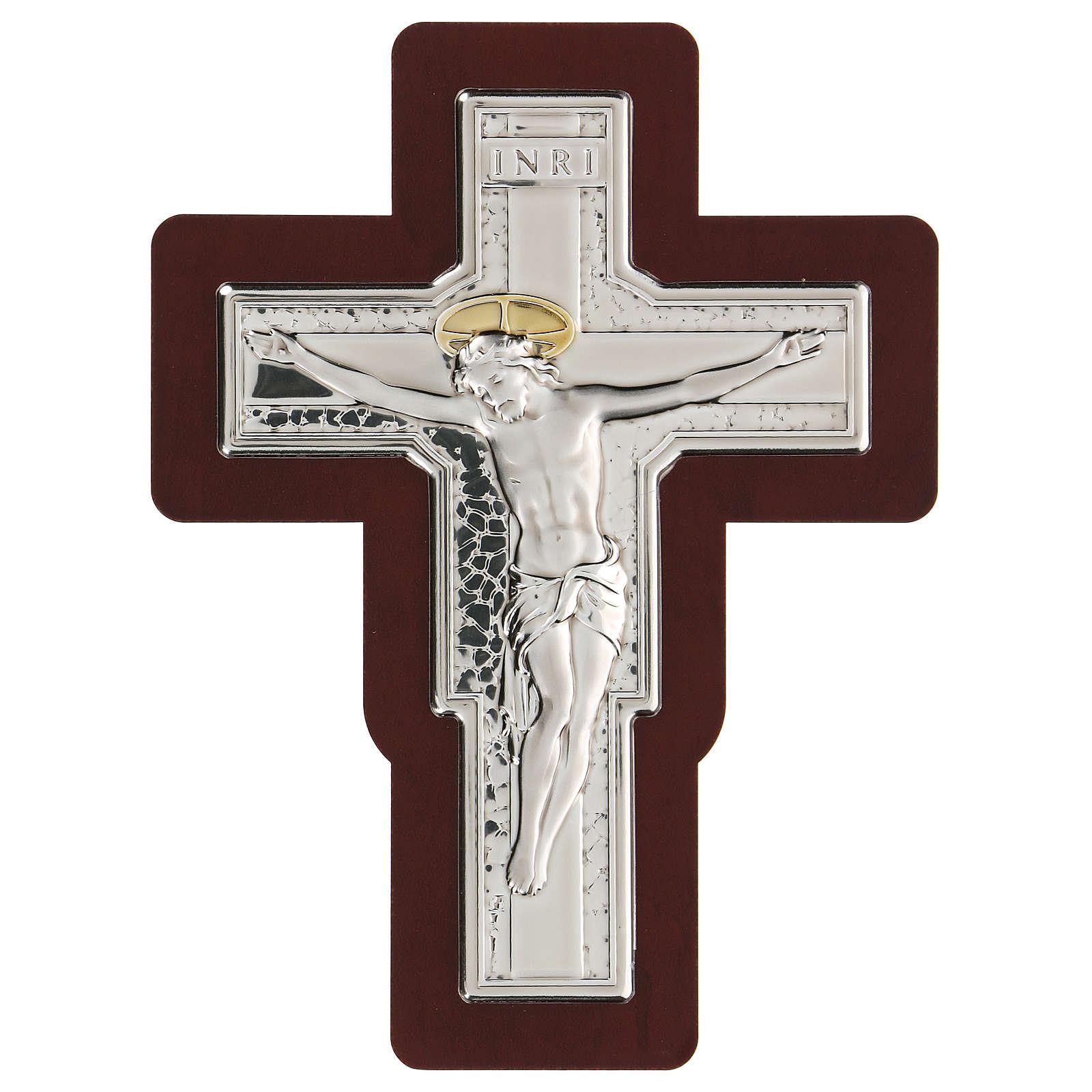 Crocifisso in bassorilievo bilaminato 16x12 cm 4