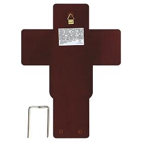Crucifix in bilaminate silver 21x16 cm s3