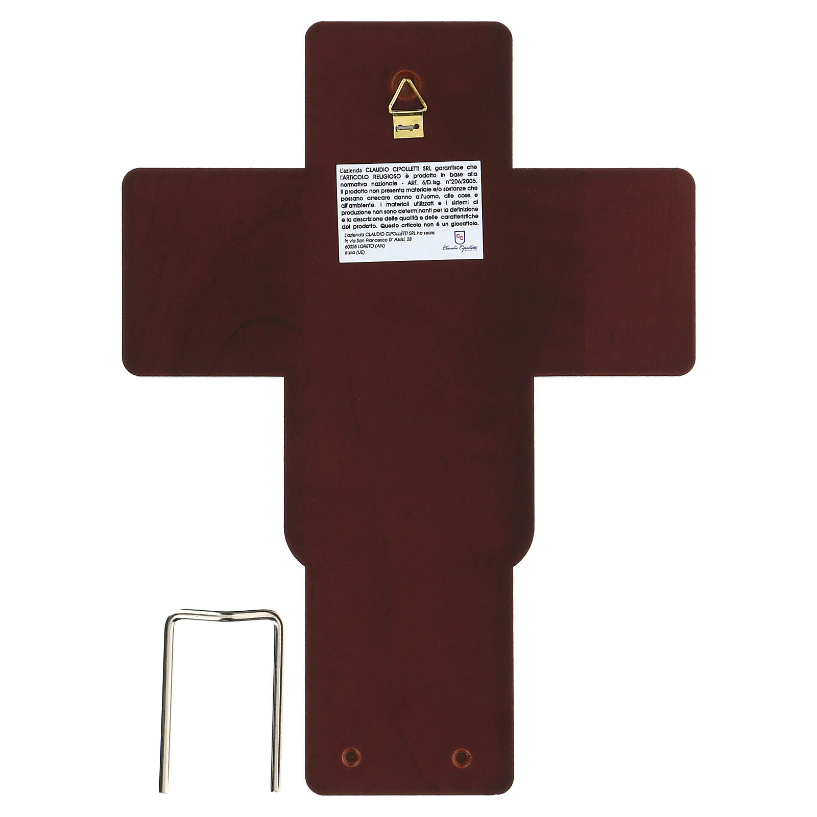 Crucifijo Jesús Cristo bajorrelieve bilaminado 21x16 cm 4