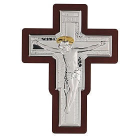 Crucifijo Jesús Cristo bajorrelieve bilaminado 21x16 cm s1