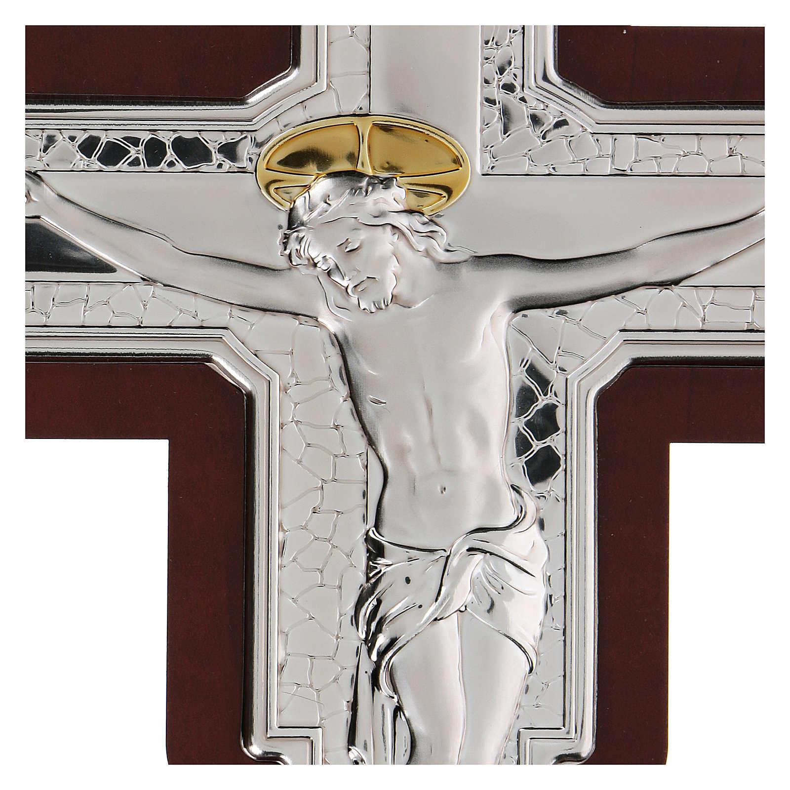 Crocifisso Gesù Cristo in bassorilievo bilaminato 21x16 cm 4
