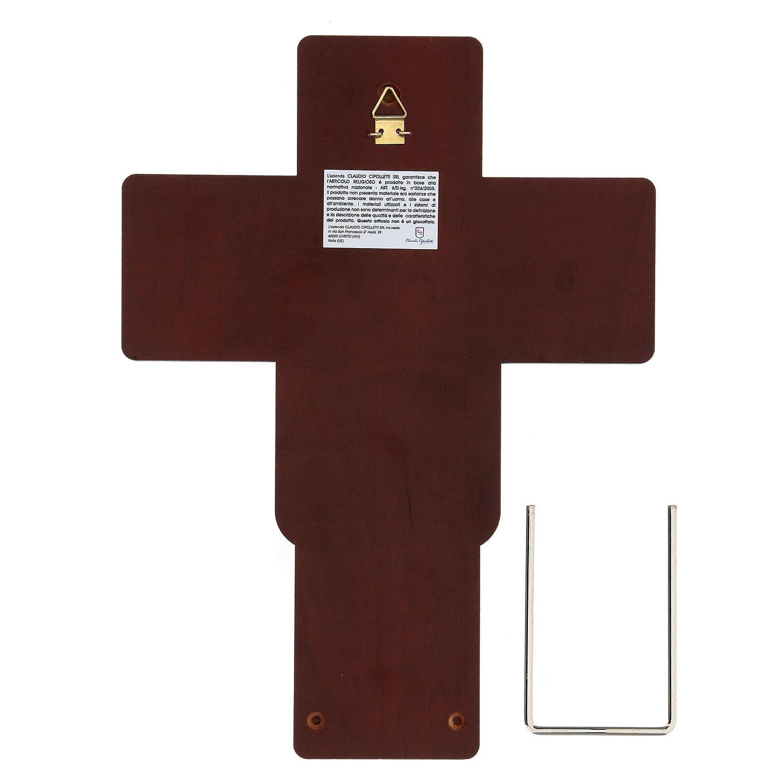 Crucifix in bilaminate silver 25x19 cm 4