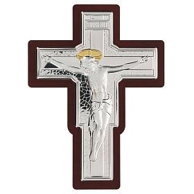 Crucifix in bilaminate silver 25x19 cm s1