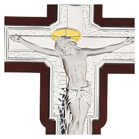 Crucifix in bilaminate silver 25x19 cm s2