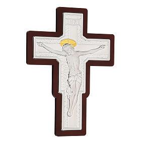 Crucifix in bilaminate silver 25x19 cm s3