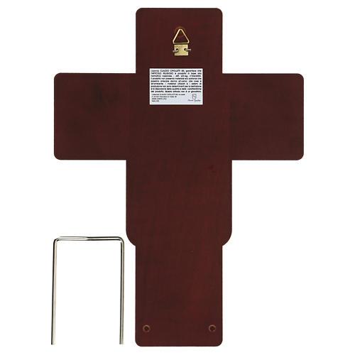 Crucifix in bilaminate silver 25x19 cm 3