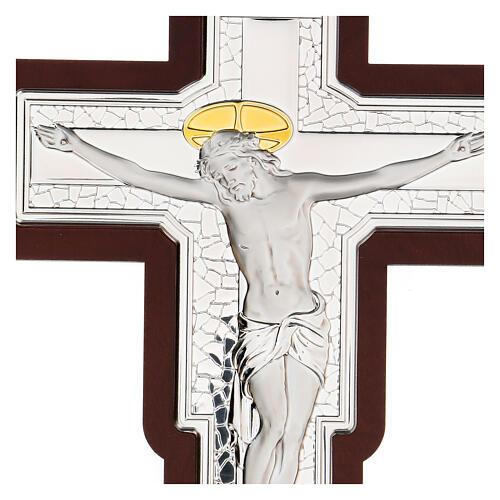 Crucifix in bilaminate silver 25x19 cm 2