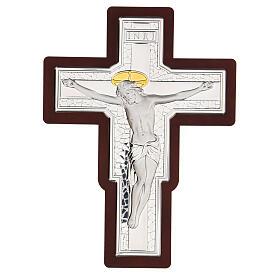 Crucifijo bilaminado bajorrelieve 25x19 cm s1