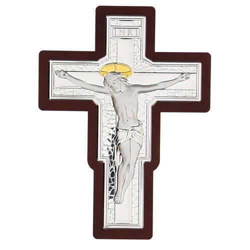 Crucifijo bilaminado bajorrelieve 25x19 cm 1