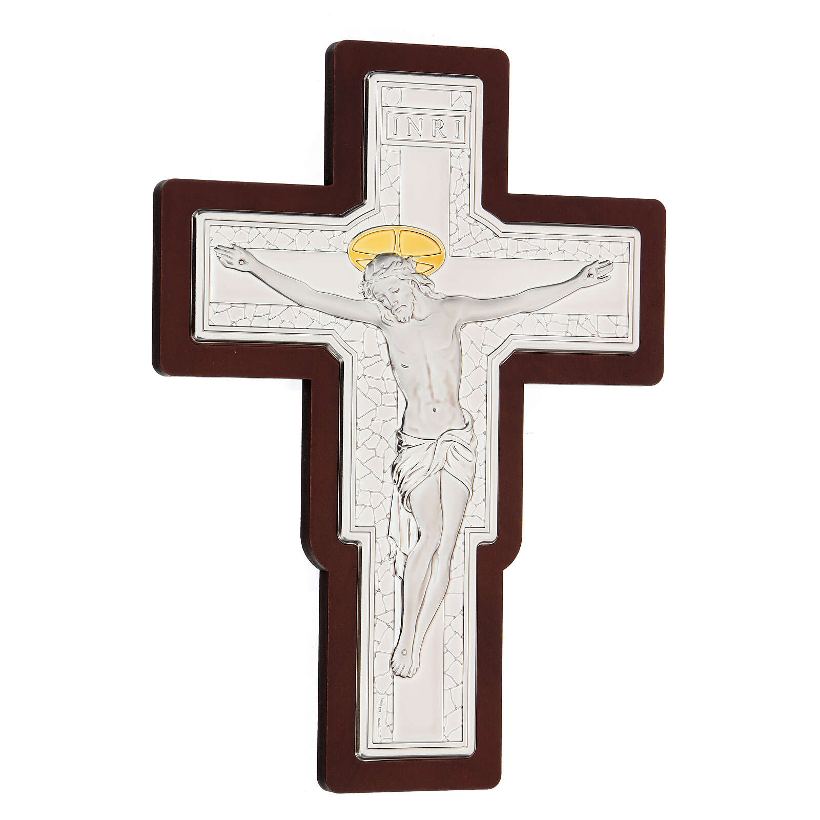 Crocifisso bilaminato in bassorilievo 25x19 cm 4