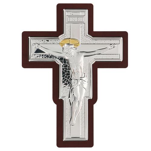 Crocifisso bilaminato in bassorilievo 25x19 cm 1