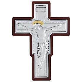 Crucifix in bilaminate silver 35x26 cm s1