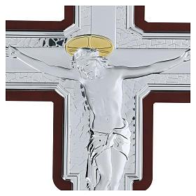 Crucifix in bilaminate silver 35x26 cm s2