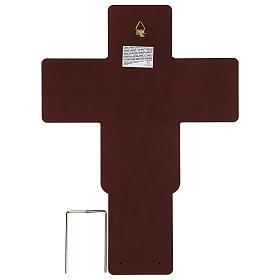 Crucifix in bilaminate silver 35x26 cm s3