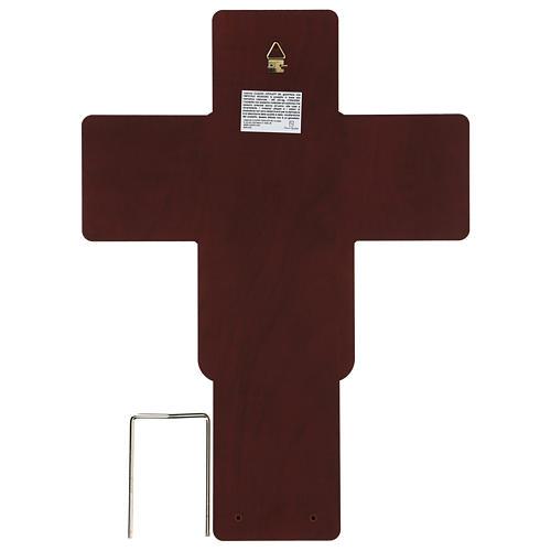 Crucifix in bilaminate silver 35x26 cm 3