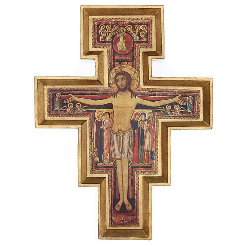 Crucifijo San Damián imprenta 75x60 cm 1