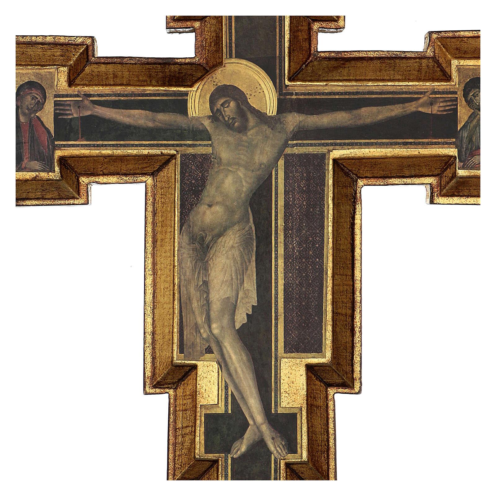 Crucifijo Santa Cruz de Cimabue 60x55 cm 4